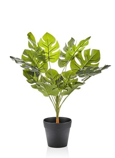 The Mia Yapay Çiçek 32 Cm Saksılı Yeşil